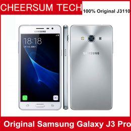 "Wholesale Pro Back - Original Unlocked Samsung Galaxy J3 Pro J3110 4G LTE Mobile phone Snapdragon 410 Quad Core Phone Dual SIM 5.0"" 8.0MP NFC Cell Phone 5pcs DHL"