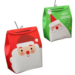 Wholesale Merry Christmas Boxes - Height 25CM Merry Christmas Gift Treat Candy Boxes Bag Santa Claus Snowman Decor portable Christmas Gift Snowman Box Bags 3