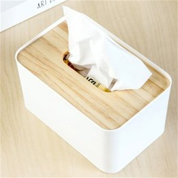 Wholesale Wooden Tissue Box Holder - Wooden Tissue Box European Style Home Tissue Container Towel Napkin Tissue Holder Case for Office Home Decoration