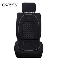 Wholesale cleaning interior - 1Pcs Spherical Massage Car Seat Cushions Universal Car Seat Cover Black Car Styling Interior Accessories Easy Clean Seat Covers