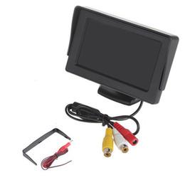 Wholesale Full Backup - 4.3' TFT LCD Color Car Rearview Monitor Reverse Backup Camera DVD GPS Futural Digital Drop Shipping AUGG10