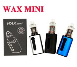 Wholesale Mini Herb - Wax Mini Vaporizer Mod Kit Glass Wax Atomizer Triple Quartz Coil 510 Thread Micro USB Charging Dry Herb E cigarette Mod Vape pen Kit