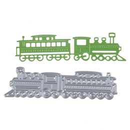 Wholesale paint templates - 103*28mm Embossing Steel Train locomotive Cutting Dies Stencils DIY Scrapbooking Card Album Photo Painting Template Metal Craft
