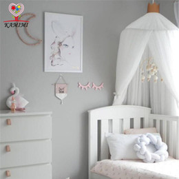 Wholesale baby beds net - 2017 summer new Baby bed curtain kids Mosquito Net children Cotton Crib Netting baby bedroom decoration photography props