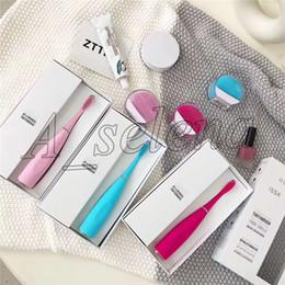 Elektrische batterien online-Silikon Elektrische Zahnbürste Mundhygiene mit USB Elektrische Massage Zahnbürste erwachsene Massager Zahnbürsten Batterie Zähne Pinsel dhl frei