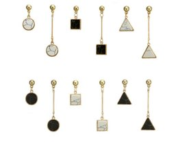 Wholesale Marble Gifts - 2018 Europe and the United States Earrings marble earrings asymmetric triangular Jewelry For Women Party Gift 82