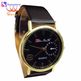 Wholesale Cheap Leather Watches Women - Cheap Watches Men Women Top Luxury Brand Leather Analog Quartz Watch Casual Men's Sport Wristwatches Clock Relogio Masculino