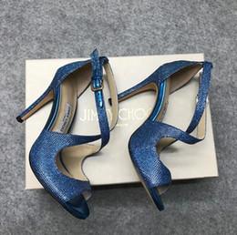 2019 spitze hochzeit schuhe fuchsia Marke Mode High Heel Sandalen Bling Bling Peep Toe Frauen Schuhe Sexy Thin Heels Party Schuhe Hohe Qualität Damen Schuhe