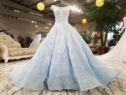 bonne tenue Promotion LS00413-1 belle jolie belle fleurs bleues en dentelle robe de soirée robe à lacets Illusion retour robe de soirée élégante 2018