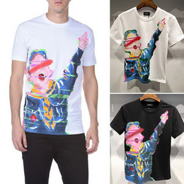 Wholesale Sportwear For Men - 2018 Hot Sale Mens T Shirts For Summer Short Sleeve O-neck T-Shirt Fashion Cartoon character Print Sportwear Tshirts Brands Men's Clothing