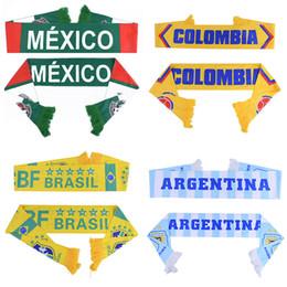 Чемпионат мира по футболу в футболе Шарф Футбольный болельщик Шарф Сборная 32 Команды Мексика Флаг Баннер Футбол Болельщики Шарф от Поставщики качественное садоводство