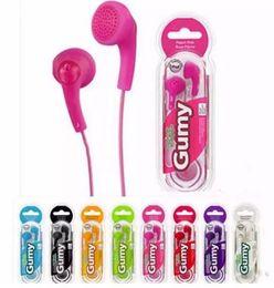 Gumy earbuds mic online-Gumy ha f150 kopfhörer gummiartige kopfhörer handy kopfhörer kopfhörer kopfhörer ohrhörer 3,5 mm ohne mikrofon fernbedienung für iphone samsung