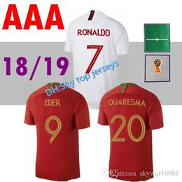 CR7 soccer jersey 2018 2019 World Cup Jersey QUARESMA NANI Football kit  Shirt 18 19 Camiseta ANDRE SILVA Jerse b96b71117