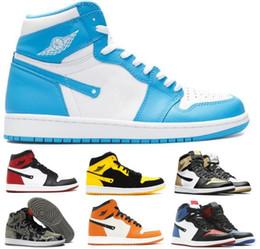 Wholesale Camo Army - Cheap 1 Basketball Shoes Men Women White OG 1s Chicago Bred Toe Banned Quai Camo New Love Unc Prem Satin Replica Shoe Sneakers