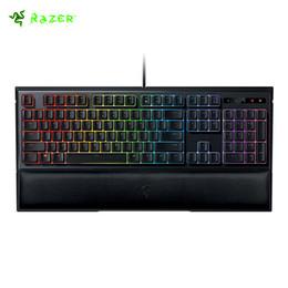 Original Razer Ornata 104 Keys Chroma Membrane Diseño EE. UU. Teclado para juegos RGB con teclados de altura media iluminados individualmente Muñeca desde fabricantes