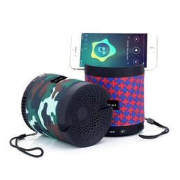 Mini localizador móvel portátil on-line-Mini alto-falante Bluetooth com suporte para o telefone HF-U3 Alto-falantes estéreo sem fio alto-falantes portáteis ao ar livre com microfone TF USB FM para o telefone móvel