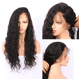 Wholesale Natural Looking Lace Front Wigs - Natural Looking Full Lace Black Brown Curly Wavy Long Wigs with Baby Hair Glueless Brazilian Human Hair Lace Front Wigs for Black Women
