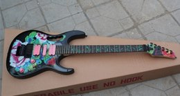 Wholesale electric guitar decals - Top Quality Guitar Factory New Ibz JEM 7V 77FP Peony Decals Floyd Rose Electric Guitar Black Hardware Free Shipping