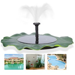 Wholesale Solar Water Fountain Pumps - Pond Garden Fish Tank Pool Water Pump Floating Solar Fountain Power Panel