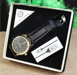 Isqueiros de relógio de pulso on-line-Isqueiros do cigarro eletrônico Relógio de Pulso USB Carga mais leve de Fumar À Prova de Vento relógios de pulso Mais Leve Com caixa de presente Embalagem