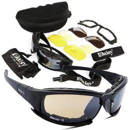Juegos de guerra táctica online-Gafas de sol deportivas para ciclismo Kit de 4 lentes Gafas de sol del ejército Hombres Deportes al aire libre Juego de guerra Gafas tácticas Protección