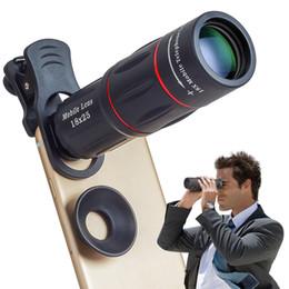 Lente de telescopio con zoom de 18x online-Telefon Camera Lens universal 18X telescopio Zoom telescopio lente de telefono movil para iPhone Xiaomi Smartphones