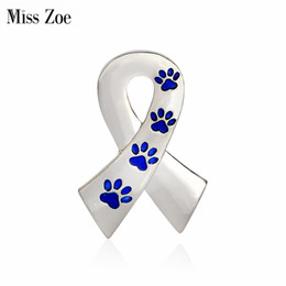 Wholesale Jewelry Owner - Miss Zoe Scarf Shaped with Dog Paws Cat Kitten Brooch Pins for Sweater Pin Badges Gift Jewelry for Dog Owner Women Girl Kids