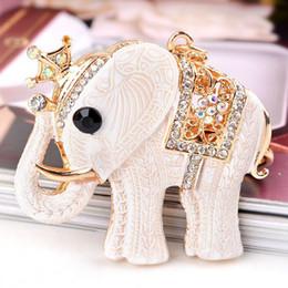 RE Cute Elephant Crystal Keychain Trinket Rhinestone Car Keychains Pendant  Bag Charm Key ring For Women s Cars Accessories J3130 4750d58ddd