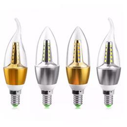 aluminium-kühler Rabatt E14 E27 LED kerzenlampe 85-265 V 5 Watt 7 Watt LED Spotlight Lampe Aluminium Kühlung kerzenlicht Kristall kronleuchter beleuchtung