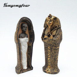 Resina ecologica online-Muffa di caramella della candela del gesso del gesso della resina della muffa del dolce della muffa del silicone della muffa del silicone della faraona di Faraone Trasporto libero