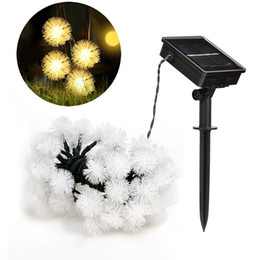 Wholesale solar led garden lights ball - Ball Solar String Lights 19.7ft 30 LED Fairy Water Drop Decorative Solar Lights for Outdoorn Lawn Party and Holiday Decorations