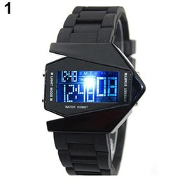 Montres surdimensionnées hommes en Ligne-Cool Men \ 's design surdimensionné Light Digital Plan de sport en forme de cadran électronique montre-bracelet Relojes