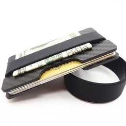 Wholesale Fiber Sports - Carbon Fiber Credit Card Holder Slim RFID Blocking Band Wallets Business Card Holders Durable 3K Carbon Case Purse For Men