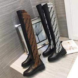 2663e0a2681398 2018 neue Ankunft Verkauf Knie Stiefel Braun Weiß Frauen Luxus Designer Womens  Stiefel Superstar Leder Knie Mode Nähte Beiläufige Hohe Qualität