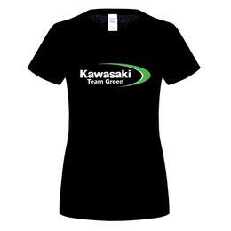 Wholesale black gildan shirt - GILDAN women's Kawasaki Logo T Shirt Famous Design Short Sleeve Tee Tops Short Male Round O Neck Black Black Tee