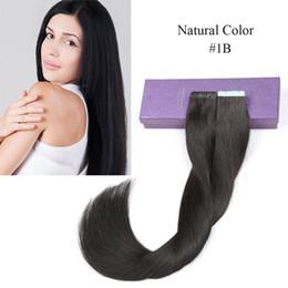 Siyah Kahverengi Bant İnsan Saç Uzantıları Ucuz Toptan Kalın Ends # 1b Doğal Renk Hotheads Saç Uzantıları Bant nereden