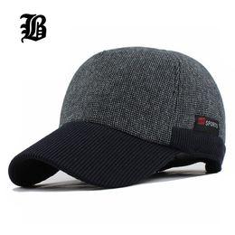 FLB  Caldo berretto da baseball ispessito invernale con orecchie da uomo  cappello in cotone snapback cappelli invernali paraorecchie per uomo donna  ... 456a0d98a25a