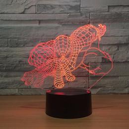 Wholesale Mushrooms Men - spider man 3D Optical Illusion Lamp Night Light DC 5V USB Powered AA Battery Wholesale Dropshipping Free Shipping