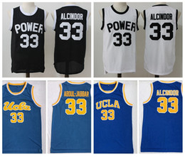 Abdul jabbar maillot en Ligne-Hommes 33 Lewis Alcindor Jr. Power Memorial Academy High School Basketball Jersey Kareem Abdul-Jabbar Ucla Bruins Collef Basketball Chemises
