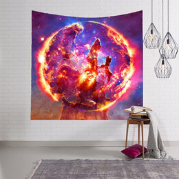 Wholesale Hanging Fabric - 2018 New LYN&GY Galaxy Tapestry Space Wall Tapestry for Wall Decoration Fabric Tapestry Hanging Wall Tapestries 100x150