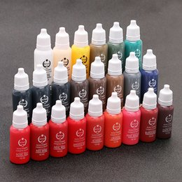 Wholesale top ink tattoos - Top Quality ! Tattoo ink BIOTOUCH permanent makeup pigments 15ml cosmetic biotouch tattoo ink paint for eyebrow lip body 23 COLOR