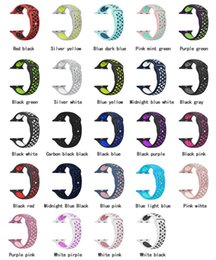 Wholesale apple rubber band - 42mm 38mm S L size cheap rubber Silicone Colorful wrist band for Apple Watch bands Strap Sports Bracelet for apple iwatch Series 2&1