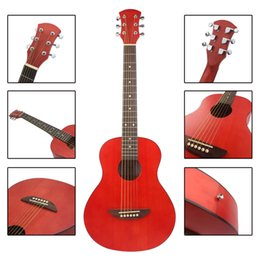 2019 instrumentos de bordo 36 polegadas balada guitarra guitarra vermelha instrumento musical atacado venda direta instrumentos de bordo barato