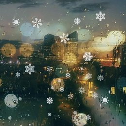 Wholesale Windows Clings - 48pcs Snowflake Window Clings Glueless PVC Wall Stickers for Windows Glasses Christmas Decoration