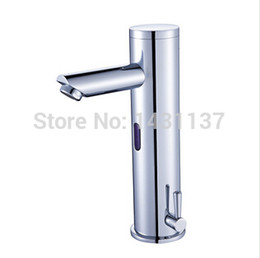 Wholesale Automatic Sink Faucets - free shipping Fashion [B&R] Bathroom Brass Chromed hot and cold automatic sensor sink basin bathroom faucet