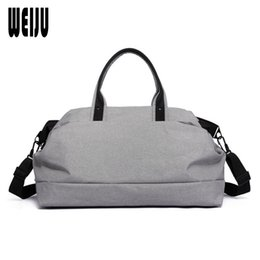 Wholesale Leather Traveling Bags - WEIJU Men Travel Bags 2017 New Large Capacity Multifunctional Hand Luggage Bag Casual Business Traveling Shoulder Bag