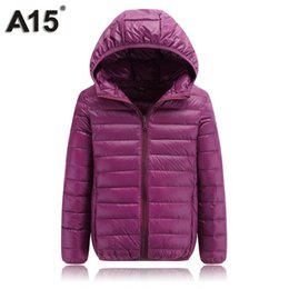 Wholesale girls clothes size 12 months - A15 Children Clothing Teenage Girls Winter Coats and Jackets Parkas for Girl Spring Kids Clothes Boys Down Size 10 12 14 16 Year