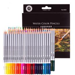 Plumas de acuarela online-24/36/48 color lápices de colores lápices de la acuarela de plomo Color de la pluma soluble en agua