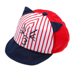 cat baseball hat UK - Cute Baseball Cap Hat Cartoon Cat Sun Hat Unisex UV  Protection 1964271f9809