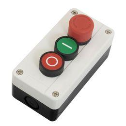 Interruptor de botão momentâneo vermelho on-line-NC Parada De Emergência NÃO Vermelho Verde Momentânea Push Button Switch Estação 600 V 10A Drop Shipping